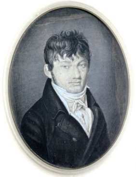 Early 19th Century Pastel Portrait Of Man