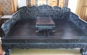 Rosewood Carved Character Ocean Bed