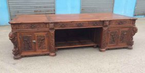 China Huanghuali Diao Large Desk