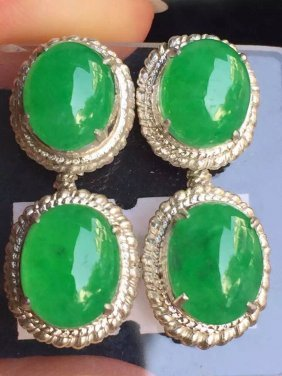 Natural Ice Species Full Of Green Pendant