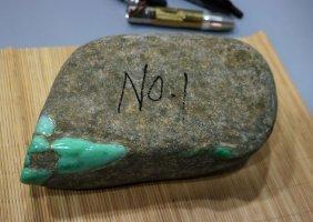 Myanmar Jade Stone Gambling Stone Number 3