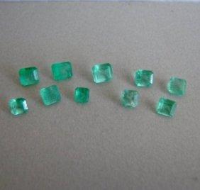 Mixed Size Cushion Shape Columbia Emerald 3.60ct