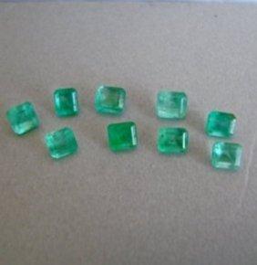 Mixed Size Cushion Shape Columbia Emerald 3.41ct