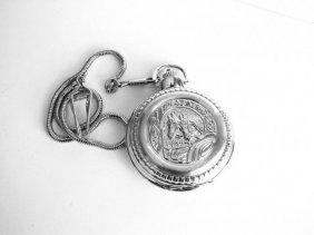 Pocket Watch 'l' Luis Cardini 18k W/g Overlay
