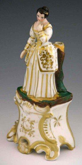 Continental Porcelain Figural Parfumier, 19th C., W