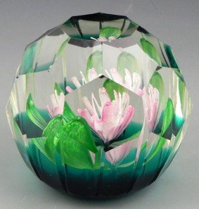 "Blown Glass Paperweight ""Enchantment,"" By Caithnes"