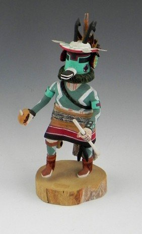 "Kachina Doll, 20th C., ""Hoop Dancer,"" Signed Andrew"
