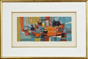 """Marcel Mouly (1918-2008), """"abstract Still Life,"""" 20th"""