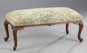 Louis Xv Style Carved Walnut Double Bench, 20th C., The