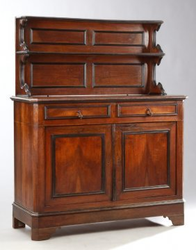 French Louis Philippe Carved Walnut St. Hubert Style