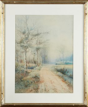 "C. E. Williams, ""road Through The Woods In Winter,"""