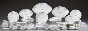 Ninety-six Piece Set Of Limoges Porcelain Dinnerware,