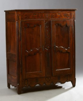 French Provincial Carved Walnut Sideboard, Early 19th