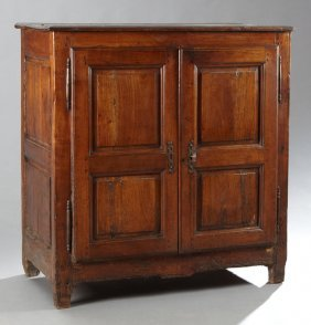 French Provincial Louis Xiii Style Carved Cherry