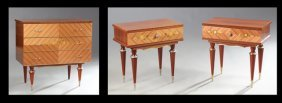 French Contemporary Marquetry Inlaid Ormolu Mounted