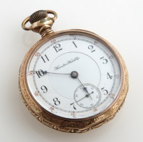 Hamilton Rolled Gold Open Face Pocket Watch, 1896, Ser