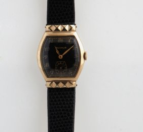 Vintage Benrus 10k Rolled Gold Plate Wristwatch, With A