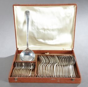Thirty-seven Piece Cased Set Of French Silverplated