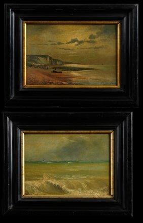"Gaston Bethune (1857- 1897), ""boats Off The Coast,"" And"