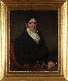 "American School, ""portrait Of A Young Gentleman In An"