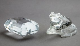 Two Pieces Of Crystal, 20th C., Consisting Of A
