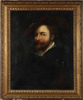 """After Peter Paul Rubens (1577-1640, Flemish), """"portrait"""