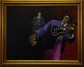 "Patterson & Barnes, ""big Henry,"" 20th C., Oil On"