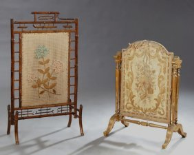 Two French Fireplace Screens, 19th C., One Example Of