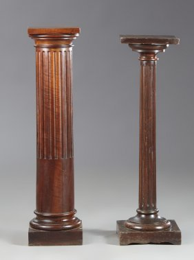 Two French Neoclassical Carved Beech Pedestals, 20th