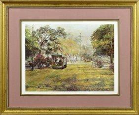 "Robert M. Rucker (1932-2000), ""st. Charles Streetcar,"""