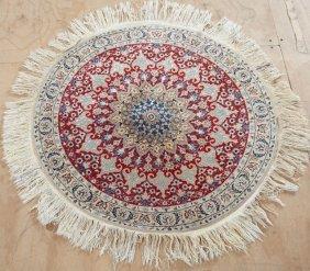 Circular Tabriz Carpet, Dia.- 3' 6.