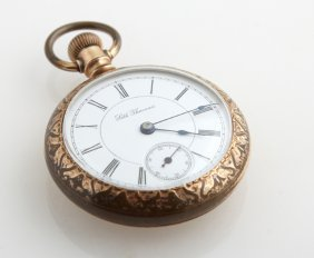 Seth Thomas Rolled Gold Open Face Pocket Watch, Ser #