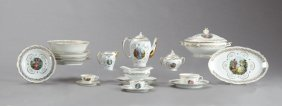 Eighty-nine Piece Set Of French Porcelain Dinnerware,