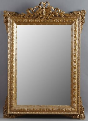 French Louis Xvi Style Gilt And Gesso Overmantel