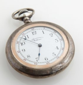American Waltham Coin Silver Open Face Pocket Watch, C.