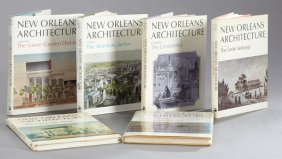 """Books-set Of Six Volumes Of """"new Orleans Architecture,"""""""