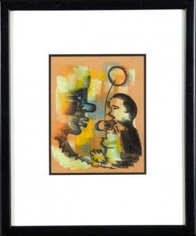 "Albert Urban (1909-1959), ""boy With Balloon,"" 20th C.,"