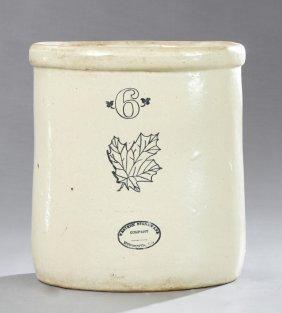 Stoneware #6 Crock, 19th C., By Western Stoneware