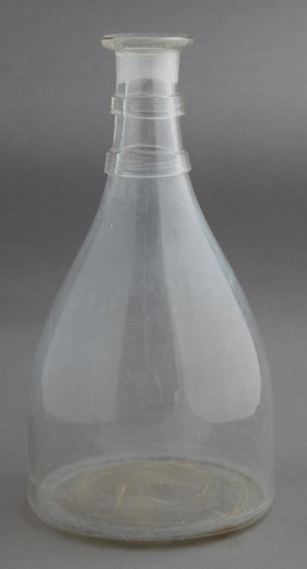 Early Blown Glass Carafe, C. 1810, Probably By Flint,