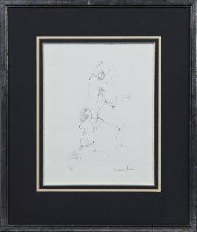 """Leonor Fini (1907-1996), """"erotic Suite,"""" Etching,"""