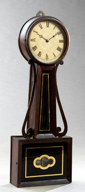 Early American Banjo Clock, 19th C., Perhaps By Howard,