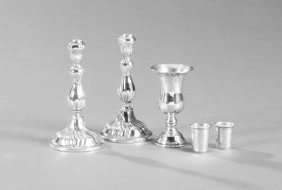 Group Of Five Silver Pieces, C. 1900, Consisting Of A