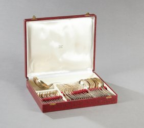 Thirty-seven Piece Set Of French Silverplate Flatware,