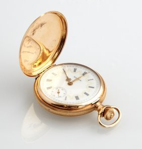 Lady's 14k Elgin Yellow Gold Hunting Case Pocket Watch,