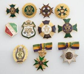 Mardi Gras- Group Of Eleven Lady's Ducals Badges, Rex,