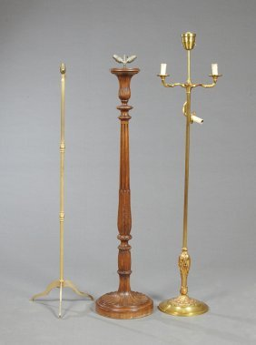 Three French Floor Lamps, 20th C., Consisting Of A