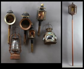Group Of Seven Pieces Of French Lighting, 19th C.,
