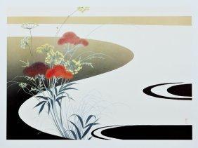 "American School, ""misty Landscape,"" 20th C., Print,"