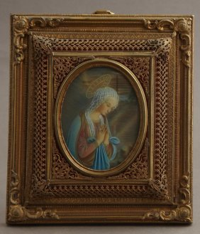 "French School, ""the Madonna At Prayer,"" Late 19th C.,"