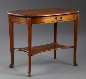English Queen Anne Carved Mahogany And Beech Writing
